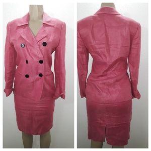 Linda Allard/Ellen Tracy (2) 100% Linen blazer